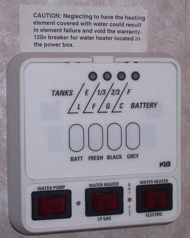 HW Heater Power On Switches What Does Your Camper Have Sunline - Rv holding tank wiring diagram
