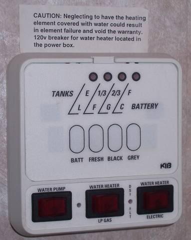 Rv Holding Tank Monitor Panel System By Kib Best Tank 2018