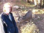 Mule deer (& my dear) in grand canyon village