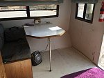 Here's the dinette after removing the bench seat.  I will repair the wall and put in a new floor covering.  Vinyl I think