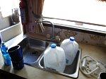 Kitchen sink. Needs scrubbing.